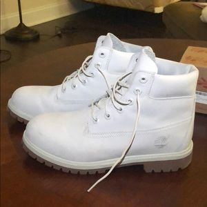 Timberland Shoes - Size 8.5 Women's White Timberlands (Waterproof)